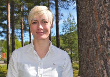 KONSEKVENSER: Den reduserte papirproduksjonen i Halden har allerede skapt problemer for avvirkningen i Viken Skog, forteller salgssjef Heidi Tandberg. Foto: Viken Skog.