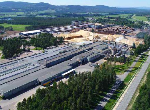 SYNERGI: Moelven Våler og Forestia er nærmeste naboer på Braskereidfoss og har dratt nytte av det i mange år. Foto: Våler kommune.